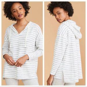 Lou & Grey Striped Boucle Hoodie Size Medium
